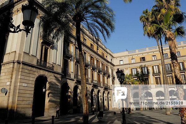 Plaça Reial. Barcelona. Katalonien  Spanien