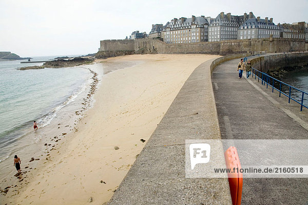 Hafen in Saint-Malo. Haute Bretagne. Frankreich
