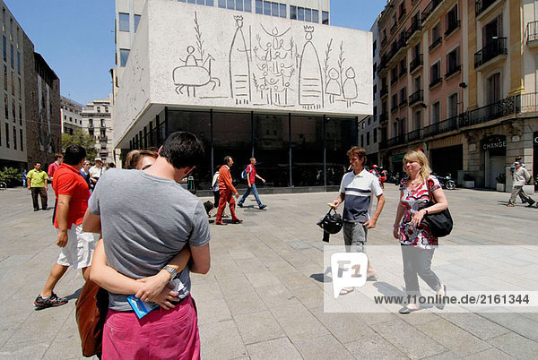 Picasso´s Sgraffiti auf der Col.legi D´Arquitectes de Barcelona Plaça Nova  Barcelona. Katalonien  Spanien