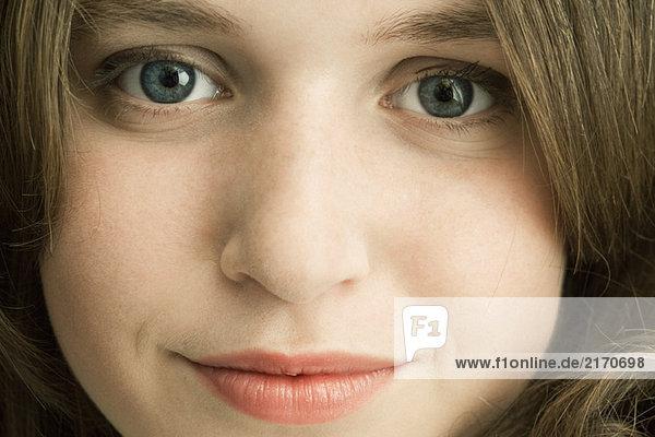 Teen girl  close-up of face