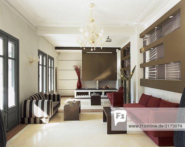 Zimmer Gemütlichkeit Ansicht Couch Wohnzimmer