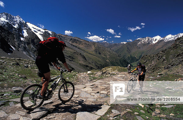 Italy  Alto Adige  People mountainbiking