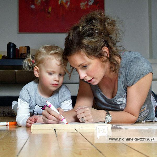 Mutter und Tochter Malerei