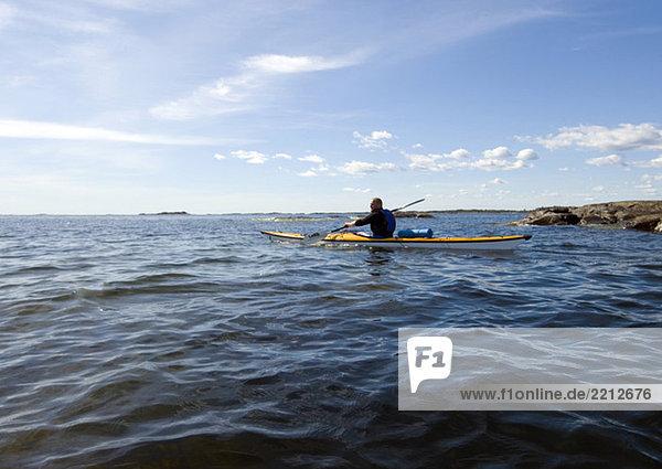 Kajak auf See