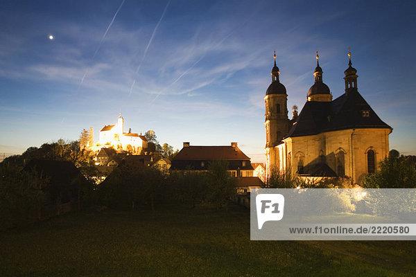 Germany  Bavaria  Gößweinstein  Basilica and Castle