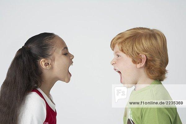 Kinder Anschreien