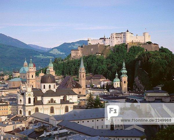 Salzburg  Blick vom Café Winkler. Österreich