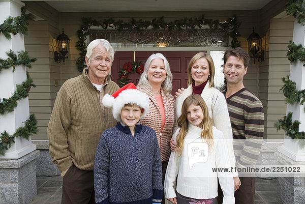 Weihnachten Familienbild