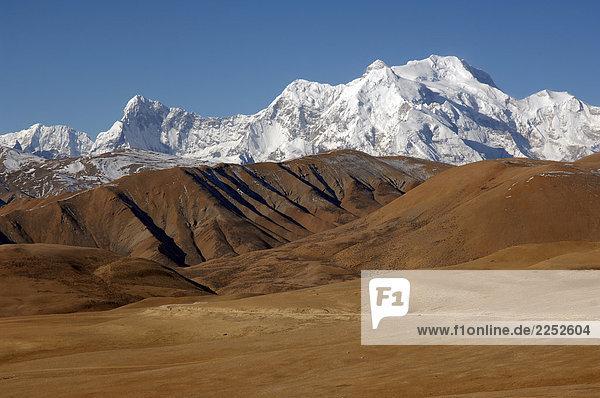 Panoramische Ansicht der Himalaya  Tibet  China Panoramische Ansicht der Himalaya, Tibet, China