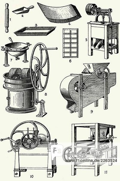Old chocolate makers´ machines
