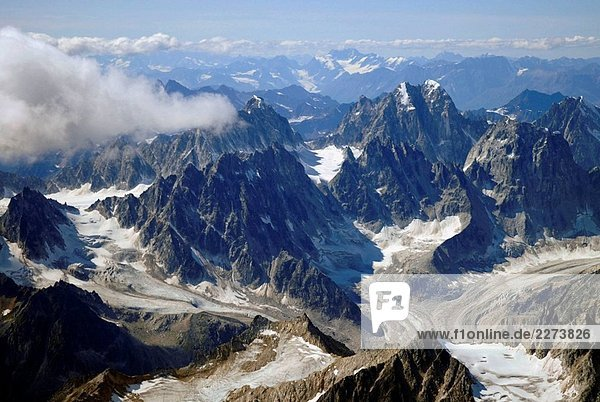 Aerial schneebedeckte Ansichten von Mt McKinley Denali National Park Alaska AK U S USA Berge Gletscher icefields Aerial schneebedeckte Ansichten von Mt McKinley Denali National Park Alaska AK U S USA Berge Gletscher icefields
