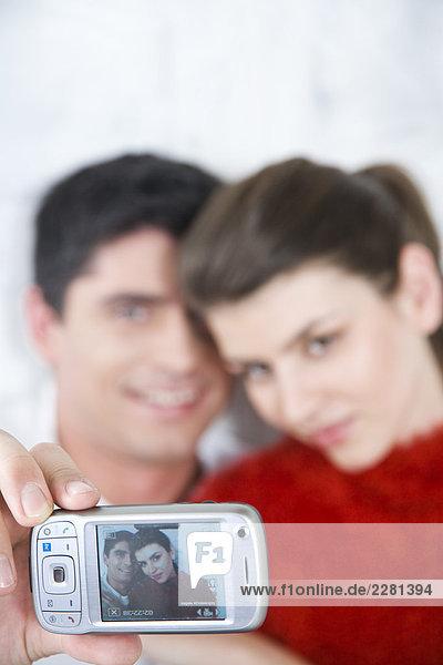 paar Taking Foto