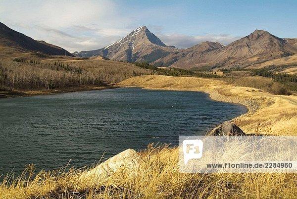 Metzger See  südlichen Alberta  südwestlich von Pincher Creek  Alberta  Kanada Metzger See, südlichen Alberta, südwestlich von Pincher Creek, Alberta, Kanada