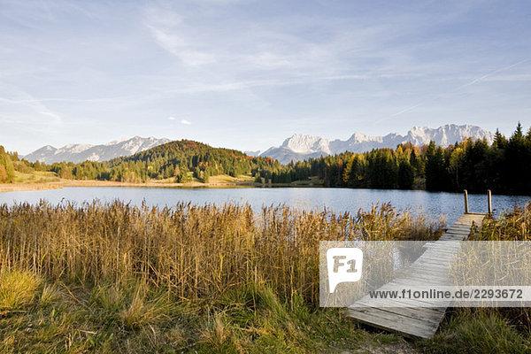 Deutschland,  Bayern,  Karwendelgebirge,  Geroldsee