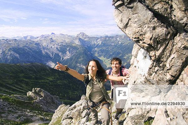Austria  Salzburger Land  couple hiking