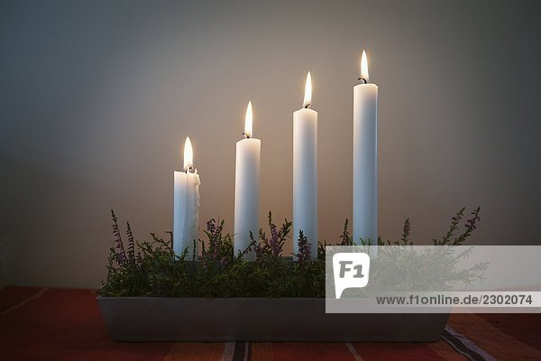 beleuchtet Kerzenhalter Kerzenständer 4 drehen Kerze Advent Sonntag Schweden