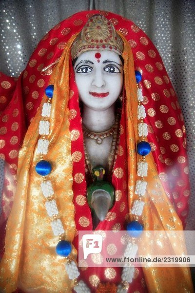 Mauritius  Triolet  hindu temple  statue of a goddess