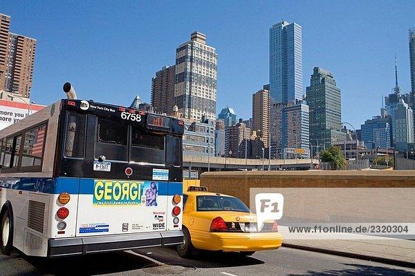 Gelben Taxis  Manhattan. NYC  USA