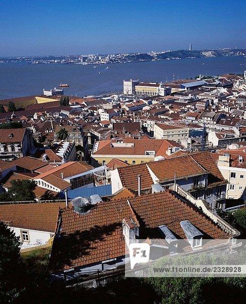 Blick vom St. George´s Schloss  Lissabon. Portugal