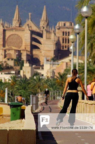 Kathedrale von El Molinar  Palma De Mallorca. Mallorca  Balearen. Spanien