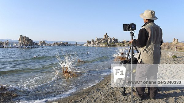 Photographer at Mono LakeCalifornia  USA