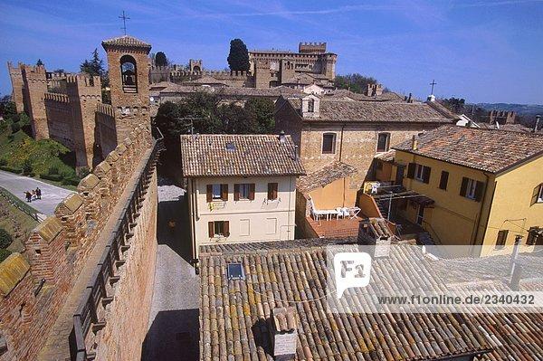 Italy  Marche  Gradara  old town center