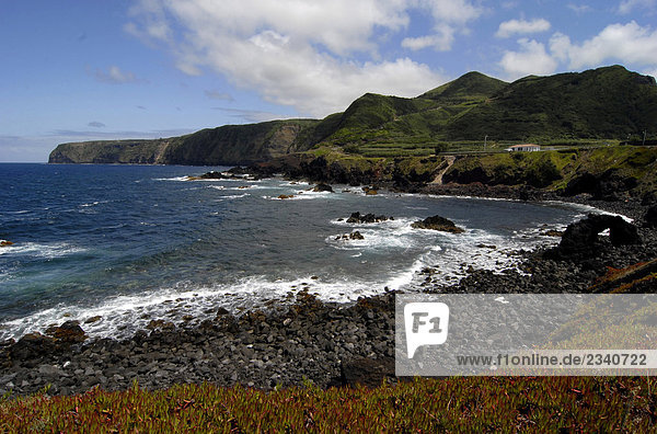 Portugal  Azoren  Sao Miguel Island  Küste