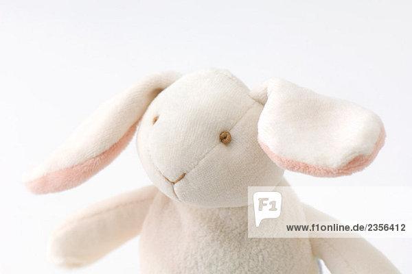 Stuffed toy rabbit  portrait