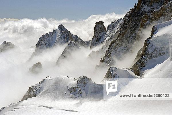 Frankreich  Chamonix. Mer de Glace Berge der Mont-Blanc-Gruppe Frankreich, Chamonix. Mer de Glace Berge der Mont-Blanc-Gruppe