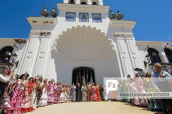 ´Romería´ (Pilgerreise)  El Rocío. Almonte  Provinz Huelva  Andalusien  Spanien