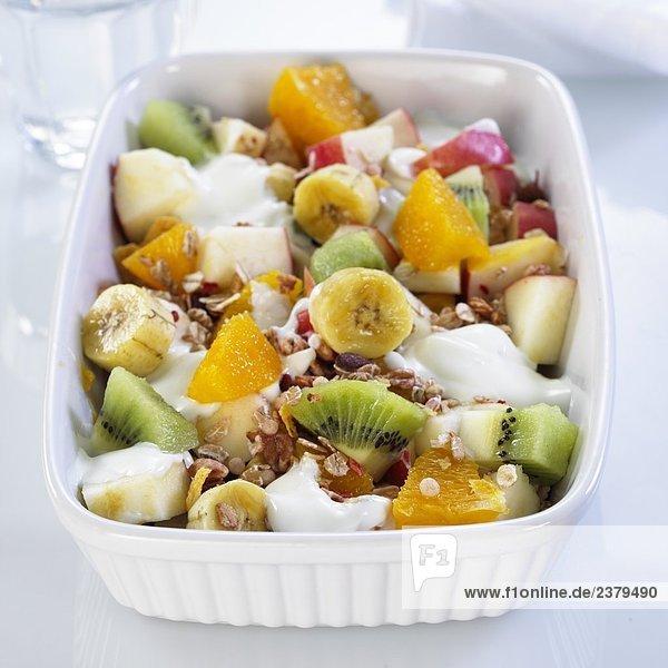 Nahaufnahme-Obst-Salat