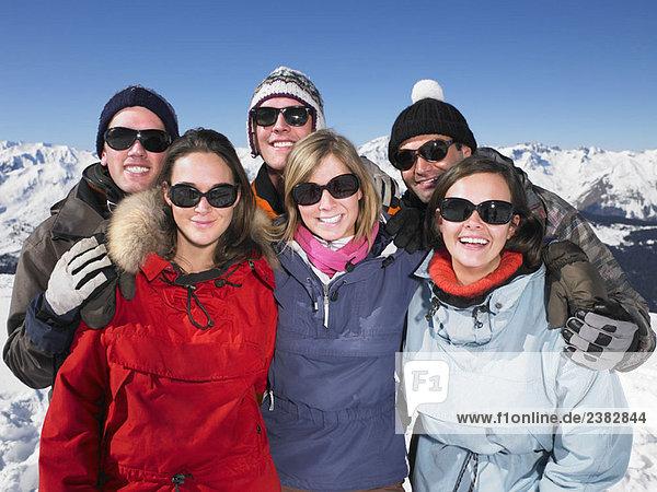 Gruppe auf dem Gipfel