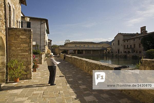 Italy  Tuscany  Thermal baths Bagno Vignoni