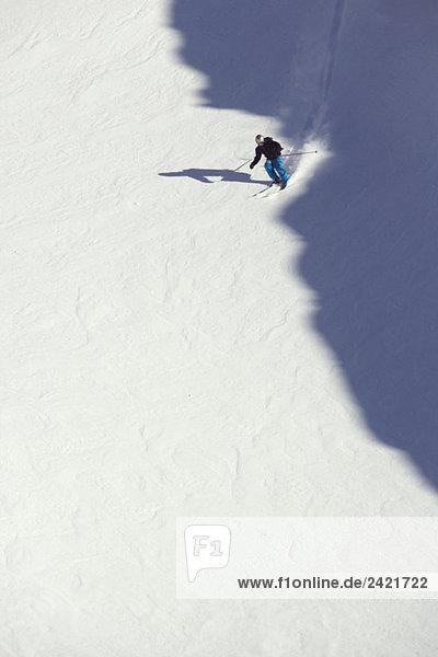 Österreich  Arlberg  Albona  Skifahren in den Alpen