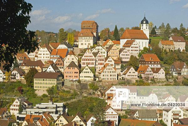 Deutschland  Schwarzwald  Altensteig  Stadtbild