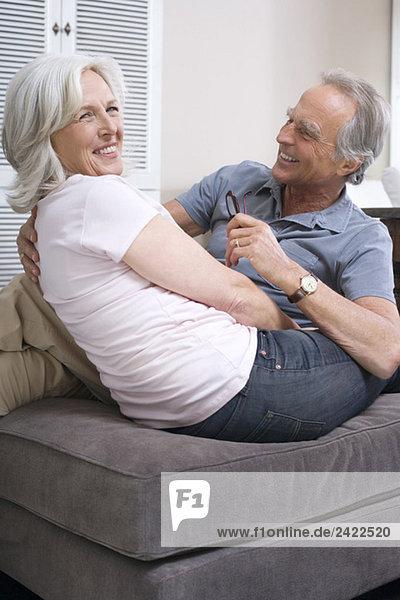 Seniorenpaar  lächelnd  Portrait