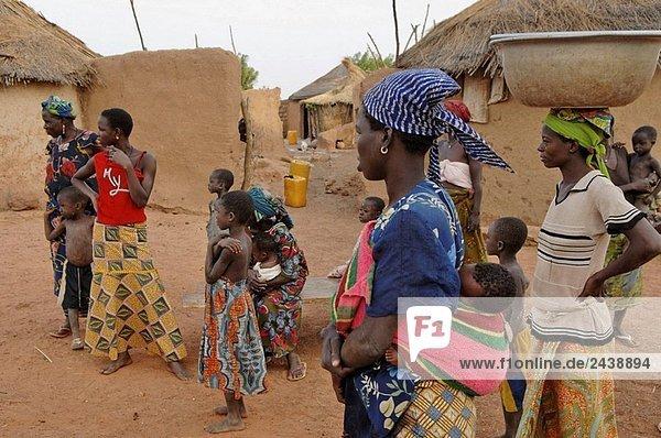 Westafrika Dorf Togo Volksstamm Stamm
