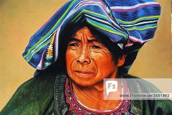 Wandmalerei  Chichicastenango. Guatemala