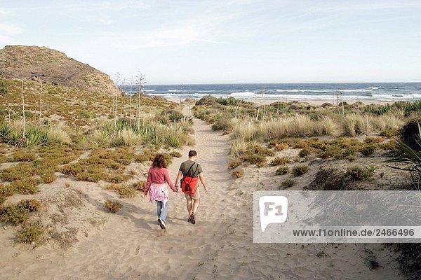 Dunes on the outskirts of San José. Parque Natural de Cabo de Gata-Nijar. Almería. Spain