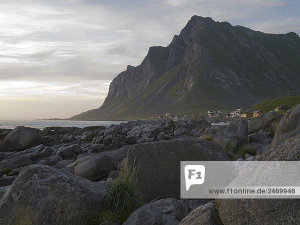 Norwegen Lofoten Flakstad Vikten