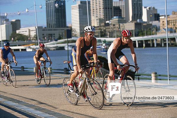 Triathloners Radfahren