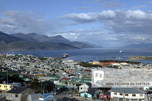South America  Argentina  Patagonia  Tierra del Fuego  Ushuaia  view of the city