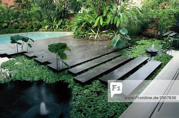Singapur Villa mit Schwimmbad Pool