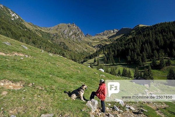 Italy  Lombardy  Orobie regional park  Alpe Nevel  Della Corte valley  tourist.