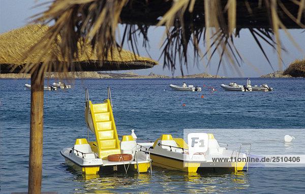 Italy  Sardinia  Pedal boats