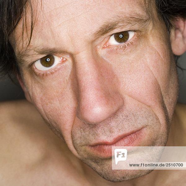 Porträt eines Mannes  Nahaufnahme