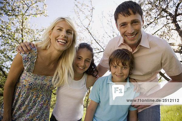 Germany  Baden Württemberg  Tübingen  Family portrait  smiling  close-up