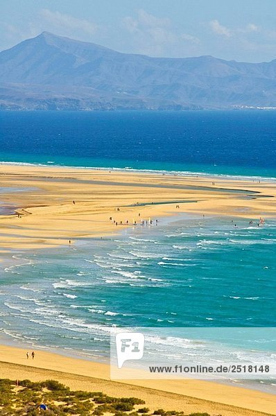 Große Strand von Jandia Beetwen Morro Jable und Costa Calma. Fuerteventura  Kanaren  Spanien
