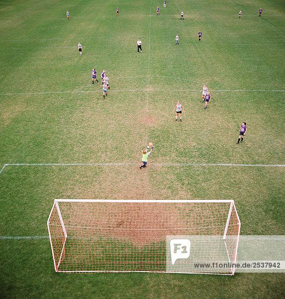 Luftbild von Fußball-Spiel  Moncton  New Brunswick