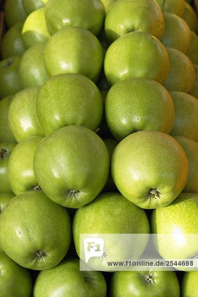 Anzeige der Granny Smith Äpfel